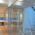 Cortinas de vidro para escritório